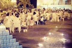 Una Cena in Bianco all'aperto a Margherita di Savoia