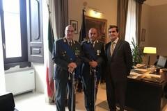 Il nuovo comandante della Guardia di Finanza in visita alla Prefettura
