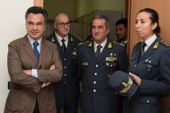 Il Procuratore Di Maio in visita alle Fiamme Gialle della BAT