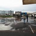 Area mercatale allagata, Unimpresa e CasAmbulanti: «Si è superato ogni limite»