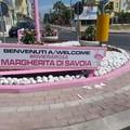 """Danneggiata la  """"rotonda rosa """" a Margherita di Savoia"""