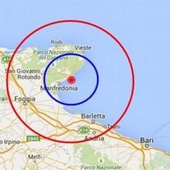 Scossa di terremoto nel golfo di Manfredonia