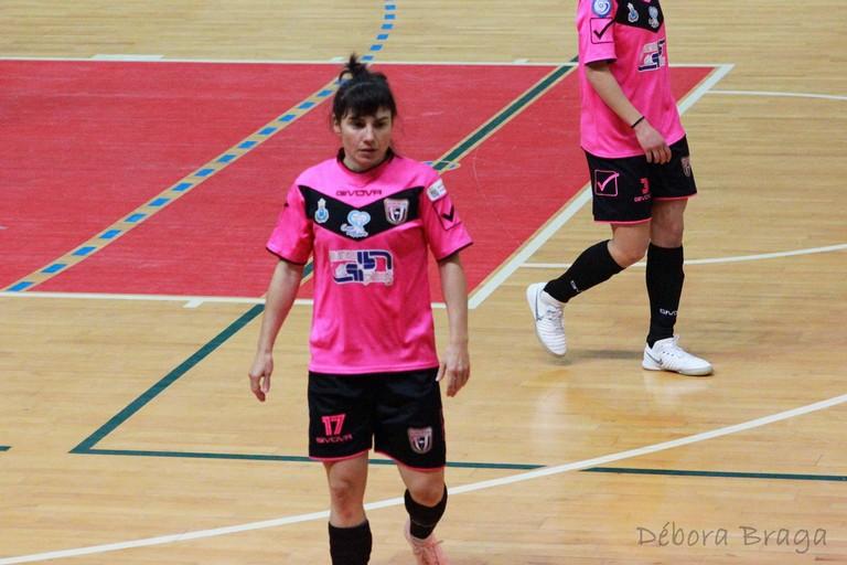 Maite della Futsal Salinis Margherita. <span>Foto Débora Braga</span>