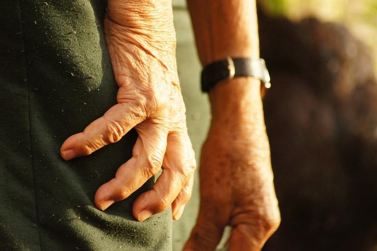 Le mani di un contadino