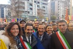 Lodispoto presente alla marcia contro la mafia a Foggia
