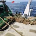 Rete da pesca a strascico sequestrata dalla Guardia costiera
