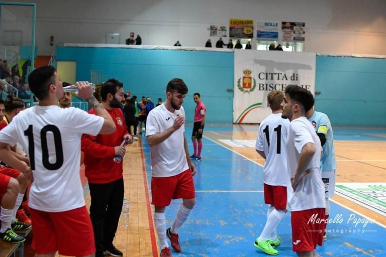 Futsal Marigliano al PalaDolmen di Bisceglie nell'ultima gara giocata. <span>Foto Marcello Papagni</span>