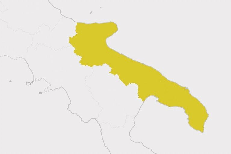 La Puglia in zona gialla, cosa cambia da lunedì